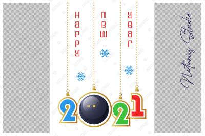 Happy New Year 2021. Squash.