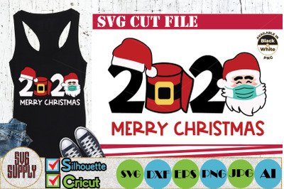 Merry Christmas 2020 SVG Cut File