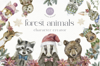 Forest Animals. Character Creator.