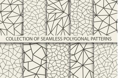 Seamless vector polygonal patterns