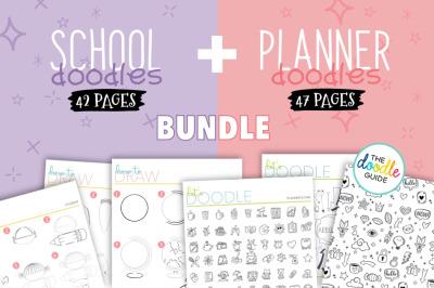 School + Planner Doodles Bundle