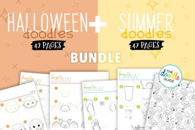 Halloween + Summer Doodles Bundle