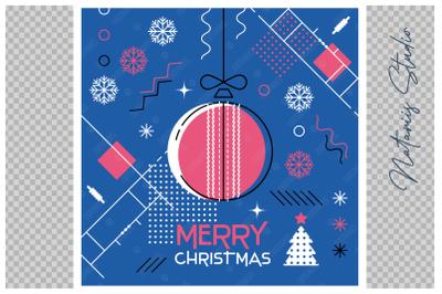Abstract Christmas sports greeting card. Cricket.
