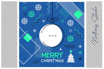 Abstract Christmas sports greeting card. Ping Pong. Table Tennis.