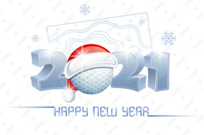 2021. Happy New Year! Golf.
