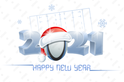 2021. Happy New Year! Rugby.