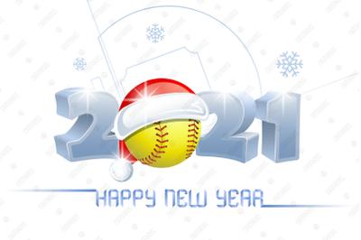 2021. Happy New Year! Softball.