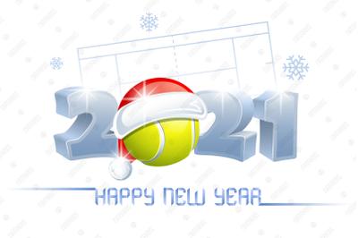 2021. Happy New Year! Tennis.
