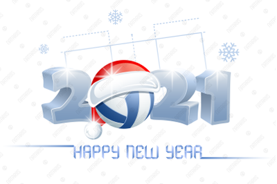 2021. Happy New Year! Volleyball.