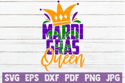 Mardi Gras Queen SVG Cut File