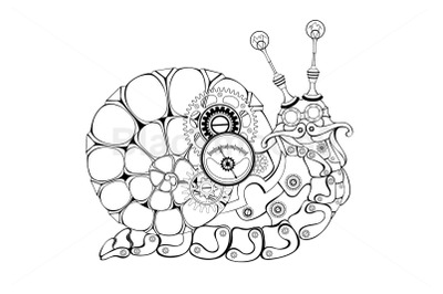 Contour Mechanical Snail Steampunk