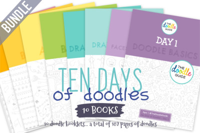 Ten Days of Doodles - Day 01 to 10 Bundle Offer