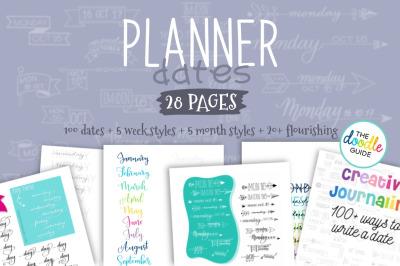 Creative Planner Dates