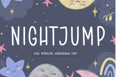 NIGHTJUMP High Monoline Handdrawn Font