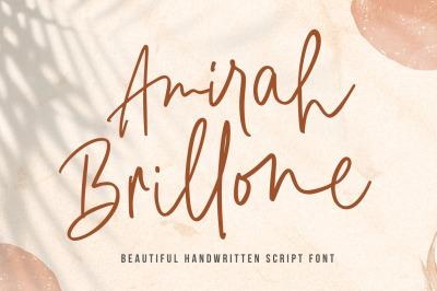 Amirah Brillone - Signature Font