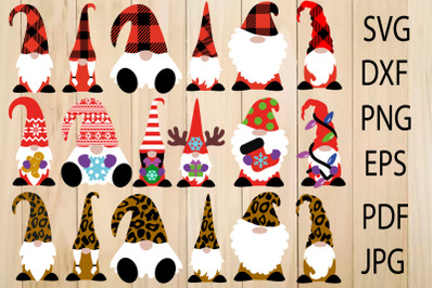 Cute Christmas Gnomes, Gnomes in Leopard and Buffalo Plaids