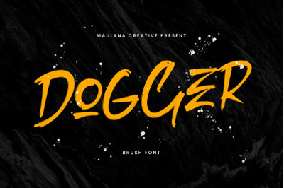 Dogger Brush Font