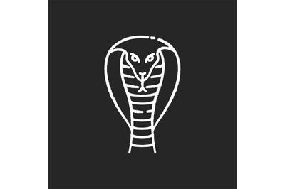 King cobra chalk white icon on black background