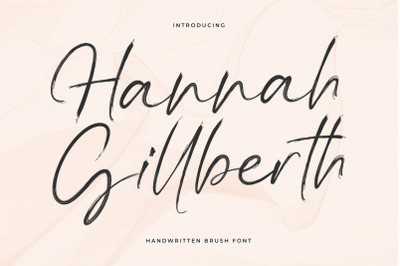 Hannah Gillberth Handwritten Brush Font