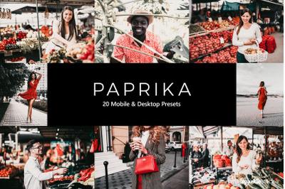 20 Paprika Lightroom Presets & LUTs