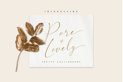 Pure & Lovely - pretty calligraphy