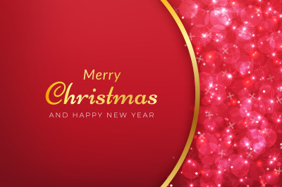 Sparkling red christmas background