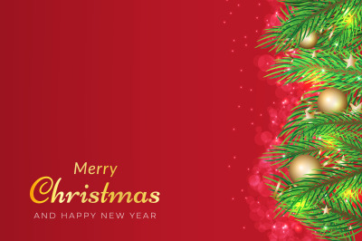 Sparkling red christmas celebration