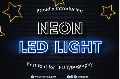 Neon LED Light - a modern Neon Light Font.