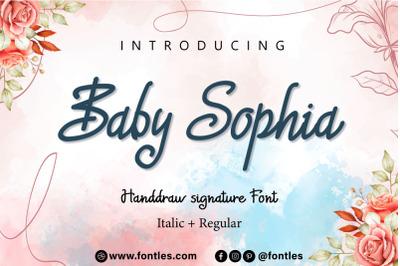 Baby Sophia handwritten font