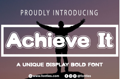 Achieve It  A Bold And Chunky Lettered Display Font