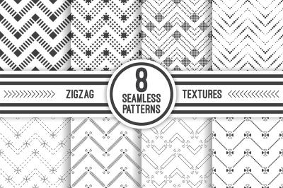 Geometric zigzag seamless patterns