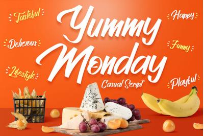 Yummy Monday -  Casual Script Font