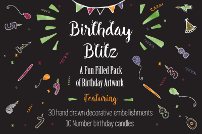 Birthday Blitz - Fun-filled Pack of Graphics