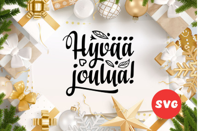 Finnish Christmas in different languages Hyvaa joulua Modern calligrap