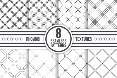 Geometric rhombic seamless patterns
