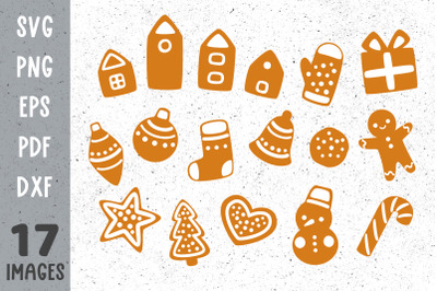 Christmas cookies svg Christmas gingerbread svg files for cricut