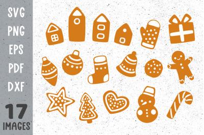 Christmas cookies svg Christmas gingerbread svg files for cricut