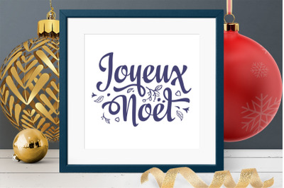 Joyeux Noel French Christmas svg lettering Around the World