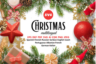 Multilingual Christmas svg Around the World Christmas SVG Bundle