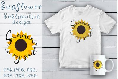 Sunflower SVG clipart. Sunflower lettering.