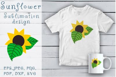 Sunflower sublimation design. Sunflower SVG.