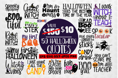 Big Halloween SVG Bundle - 50 Designs Cut Files