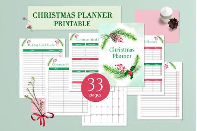 Christmas printable planner PDF