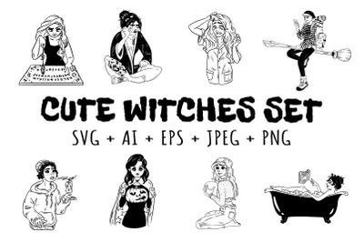 Cute Witches Set