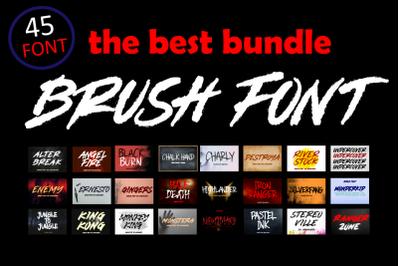 Brush Font Bundle - 45 Fonts