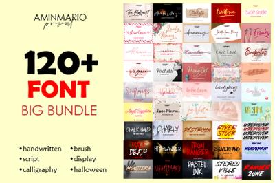 Big Bundle 120+ Fonts