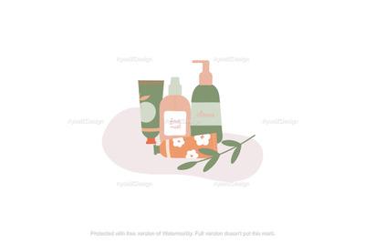 Organic Skincare Productsillustration