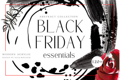 Black Friday sale templates, social media  sale stickers, black clipar