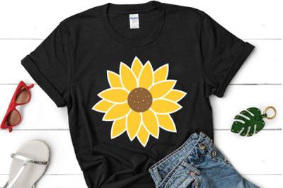 Sunflower SVG, Sunflower clipart, Sunflower cut file, Sunflower cricut