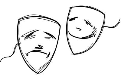 comedy and drama masck